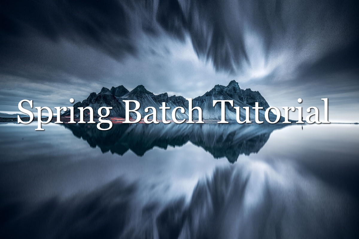 Spring Batch Tutorial